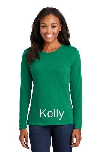 Ladies Long Sleeve Tee - Kelly