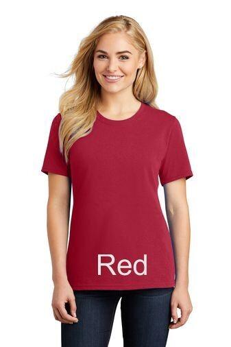 Ladies Short Sleeve Tee - Red