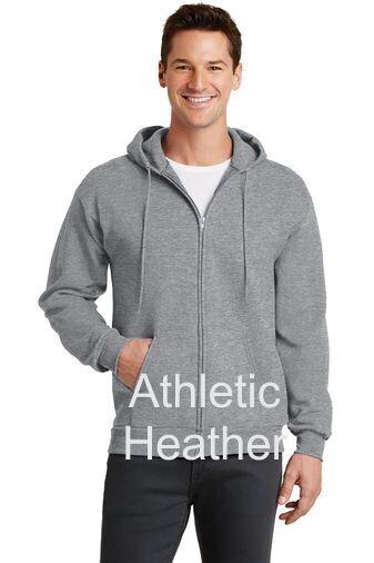 Men's Fleece Full-Zip Hooded Sweatshirt - Athletic Heather