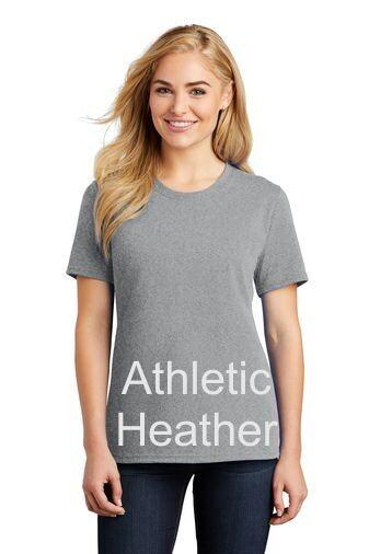 Ladies Short Sleeve Tee - Athletic Heather