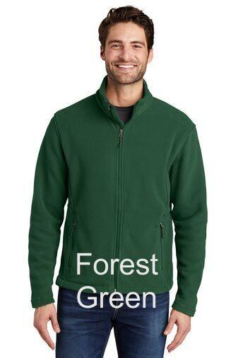 Men's Fleece Jacket - Forest Green