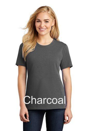 Ladies Short Sleeve Tee - Charcoal