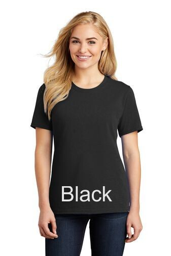 Ladies Short Sleeve Tee - Black