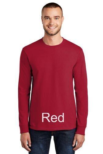 Men's Tall Long Sleeve Tee - Red