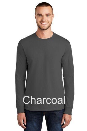 Men's Tall Long Sleeve Tee - Charcoal