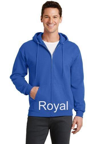 Men's Fleece Full-Zip Hooded Sweatshirt - Royal