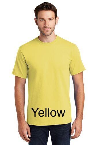 Men's Short Sleeve Tee - Yellow