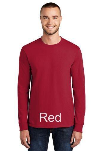 Men's Long Sleeve Tee - Red