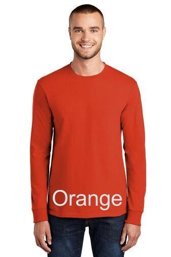 Men's Long Sleeve Tee - Orange