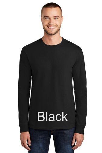 Men's Tall Long Sleeve Tee - Black