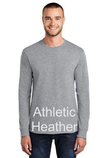 Men's Tall Long Sleeve Tee - Athletic Heather