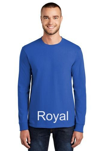 Men's Tall Long Sleeve Tee - Royal