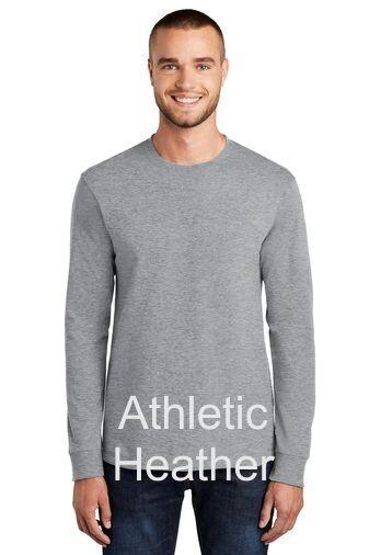 Men's Long Sleeve Tee - Athletic Heather