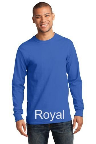 Men's Long Sleeve Tee - Royal