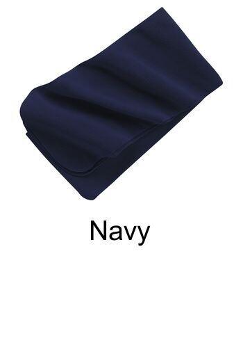 Extra Long Fleece Scarf - Navy