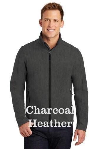 Men's Soft Shell Jacket - Charcoal Heather