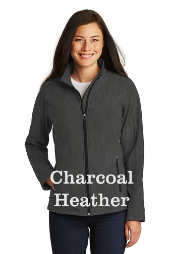 Ladies Soft Shell Jacket - Charcoal Heather