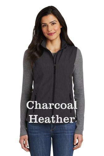 Ladies Soft Shell Vest - Charcoal Heather