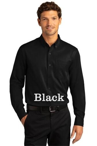Men's Long Sleeve SuperPro React™Twill Shirt - Black