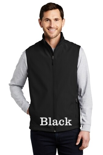 Men's Soft Shell Vest - Black