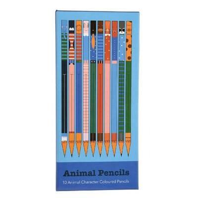 Ten Animal Colour Pencils