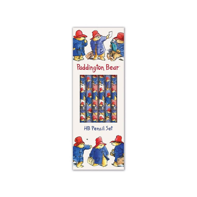Paddington Bear Boxed Set of 6 HB Pencils with Eraser Tips