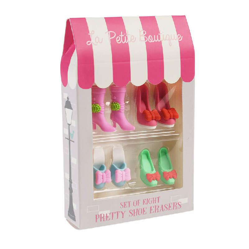 Set Of Eight Shoe Erasers