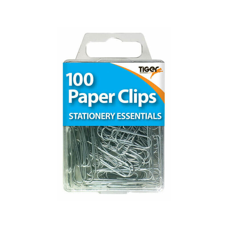 Pack of 100 Steel Paper Clips