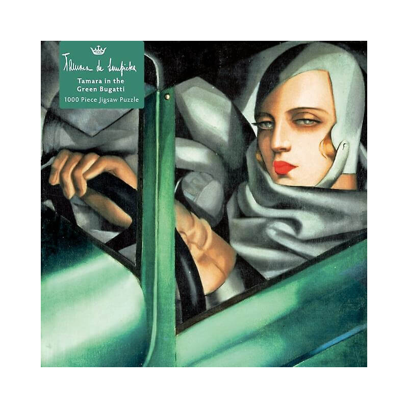 Adult Jigsaw Puzzle Tamara de Lempicka: Tamara in the Green Bugatti, 1929 : 1000-piece Jigsaw Puzzles