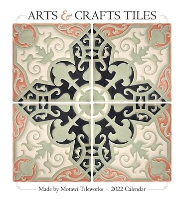 Arts & Crafts Tiles Wall Calendar 2022