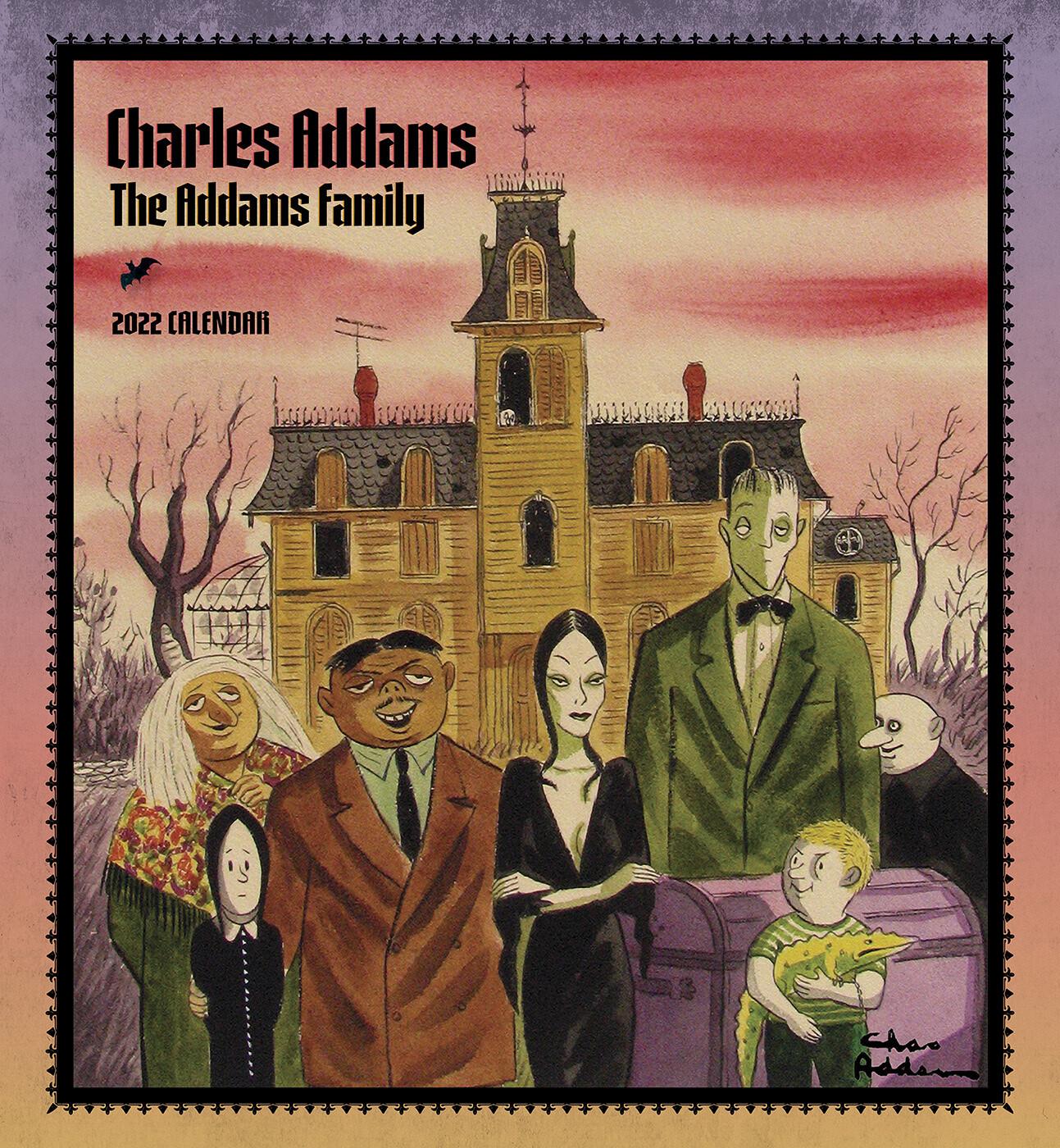 C.Addams: Addams Family 2022 Wall Calendar