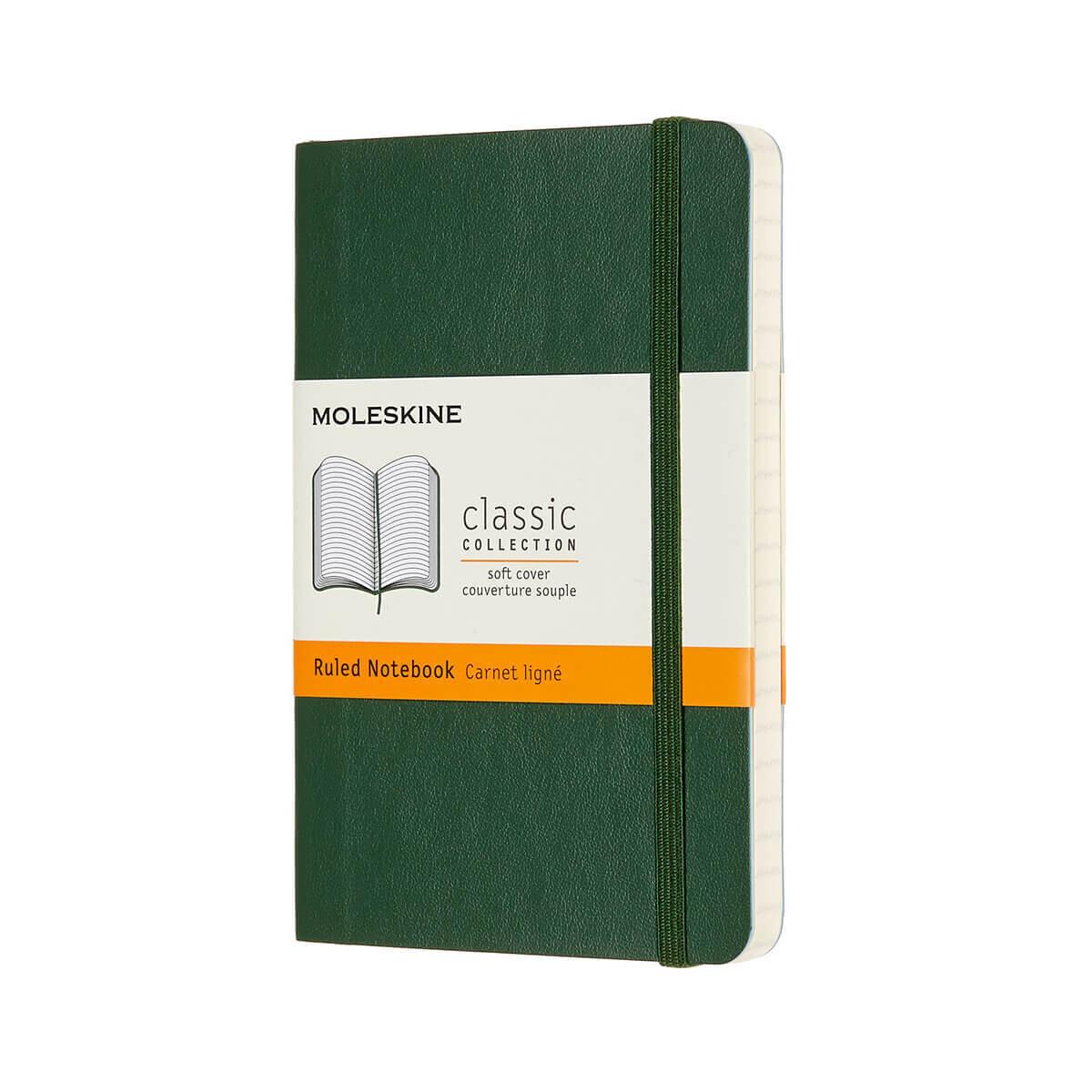 Moleskine Notebook Myrtle Green Ruled Pocket Soft Cover