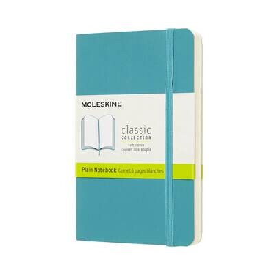 Moleskine Notebook Reef Blue Plain Pocket Soft Cover