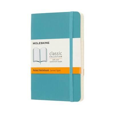 Moleskine Notebook Reef Blue Ruled Pocket Soft Cover