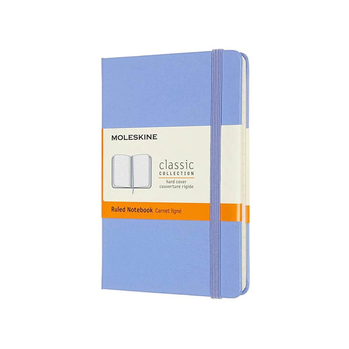 Moleskine Notebook Hydrangea Blue Ruled Pocket Hard Cover