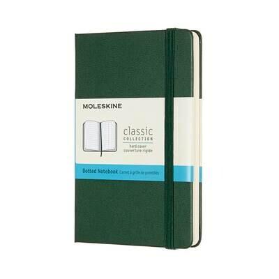 Moleskine Notebook Myrtle Green Dotted Pocket Hard Cover