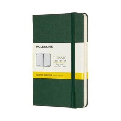 Moleskine Notebook Myrtle Green Squared Pocket Hard Cover