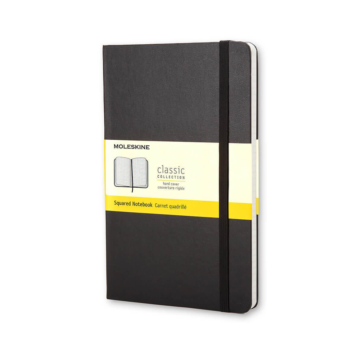 Moleskine Notebook Black Squared Pocket Hard Cover