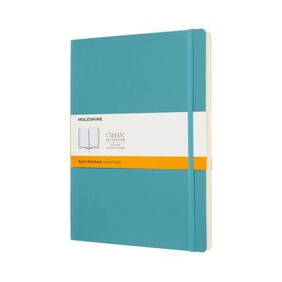 Moleskine Notebook Reef Blue Ruled X-large Soft Cover