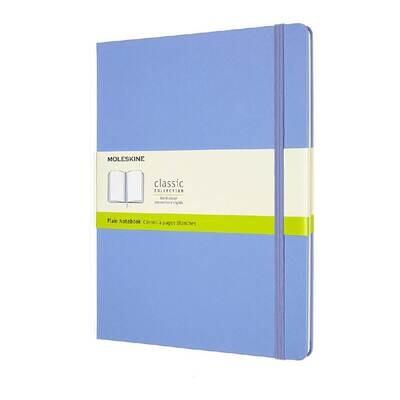 Moleskine Notebook Hydrangea Blue Plain X-large Hard Cover