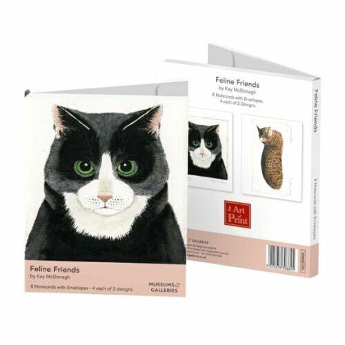 Feline Friends by Kay McDonagh - 8 Rectangle Notecards Wallet