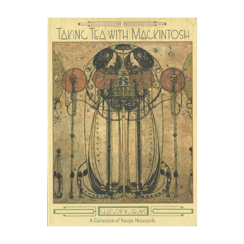 Taking Tea with Mackintosh Boxed Set of 20 Recipe Note Cards: 4 Designs