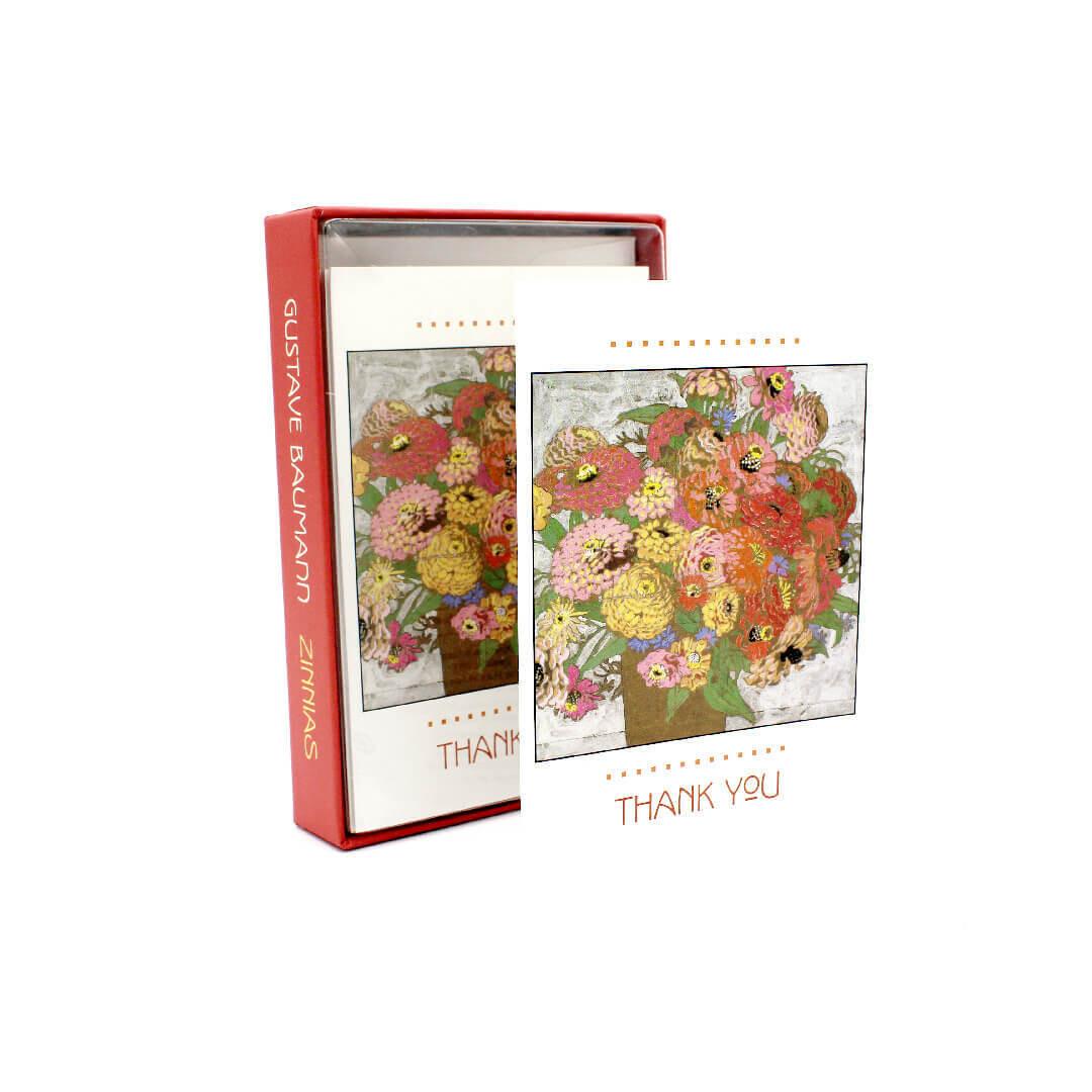 Gustave Baumann Zinnias Thank You Notecards(Pack 10)