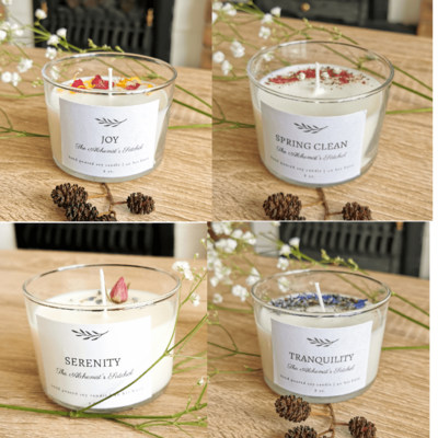 Scented Candle, Aromatherapy, Pure Essential Oils, Vegan, Natural, Hand Poured, Home Decor, Gift