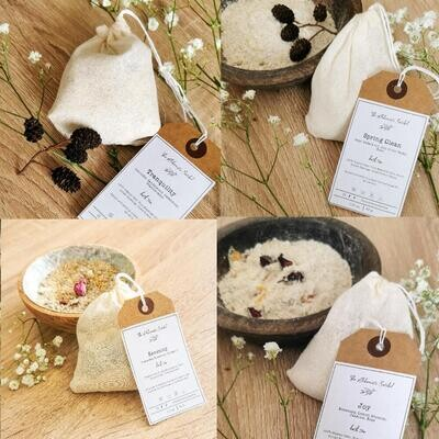 Bath Tea Bag, Aromatherapy, Essential Oil blend, Bath Oats Milk, Sensitive Skin Care, Self-Care, Gift for Her, Gift for Mum, Child-friendly