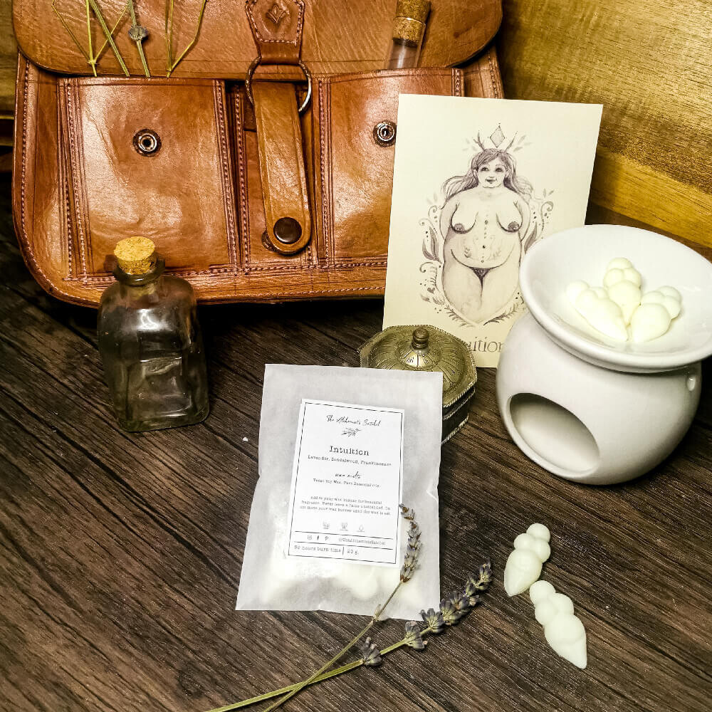 Intuition Goddess Wax Melts (20g) 50hours burn time with Art Print, Feminist gift, gift for her, birthday gift, pamper box, pagan gift