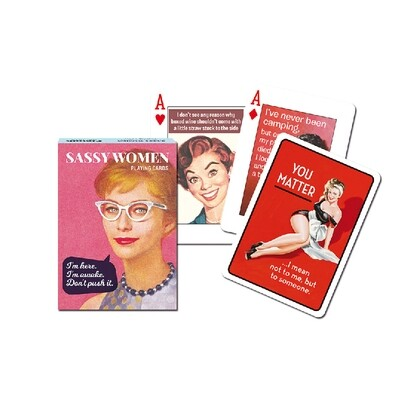 Sassy Women Playing Cards