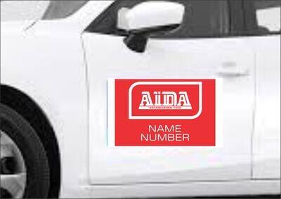 Aida Vehicle Magnetic Sticker (Set 2)