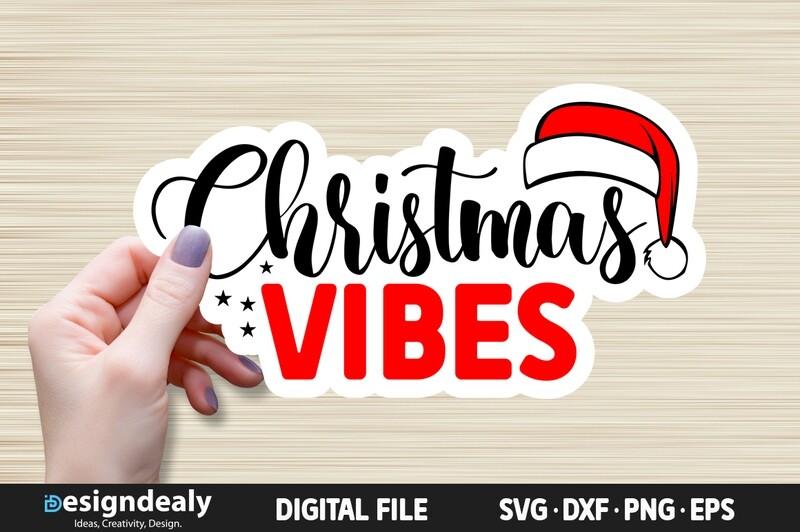 FREE Christmas Vibes SVG