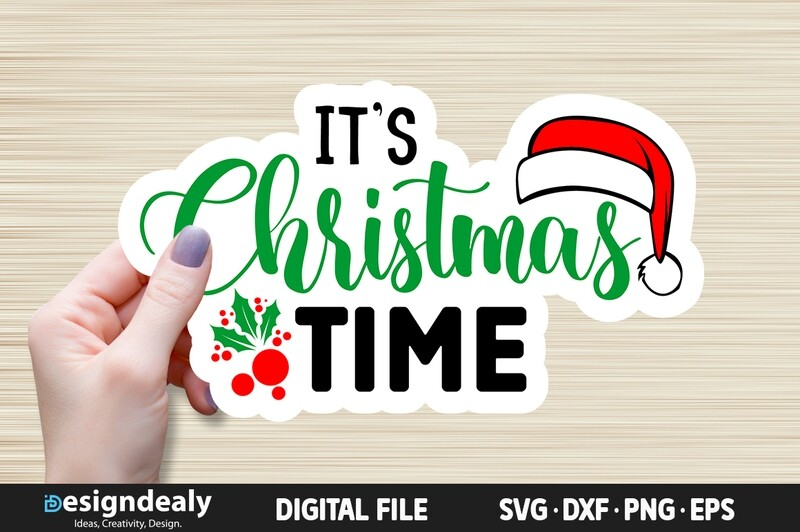 FREE It's Christmas time SVG